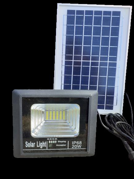 Kültéri Led solar 20 w napelemmel
