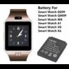 Smart Watch Okosóra akkumulátor LQ-S1. Kompatibilis DZ09, QW09, W8, A1, V8, X6, GT08, T8, MY1, Q18, M26, Y1, Z8, M9