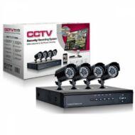 Merystyle-Komplett megfigyelő rendszer - 4 db kamera + vezérlőközpont