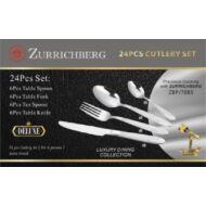 Merystyle@24 részes Zurrichberg evőeszköz készlet rozsdamentes acélból