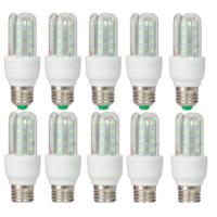 10 darab 5 Wattos LED izzó, kiemelkedő energiahatékonysággal E27 foglalathoz