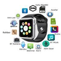 Smart Watch A1 Okosóra telefonként is! Szilikon szíjjal, magyar nyelvű menüvel - Szürke színben