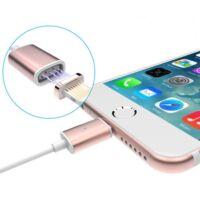 Mágneses USB kábel Android és iPhone készülékekéhez