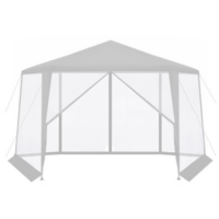 Hatszögletű szúnyoghálós pavilon - Fehér színben