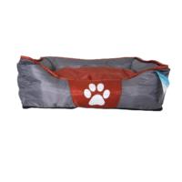 Tappancs kutyafekhely - Szürke-Bordó színben - 75x48x20 cm