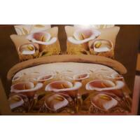 Violet 3D Sárgás kála mintás  7-részes ágynemű huzat
