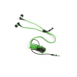Cipzár dizájn fülhallgató - kék
