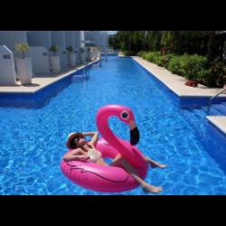 Felfújható flamingó úszógumi 90 cm - Pink színben