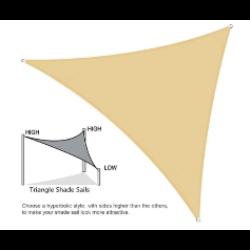 Napvitorla bézs színben - 4x4x4 méter