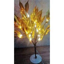 Arany leveles Led dekorációs fa