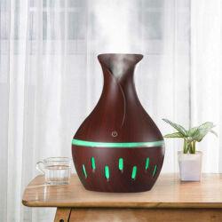 Aromaterápiás Párologtató / Sötét színű, Ultrahangos Párásító – 300 ml FT-066D
