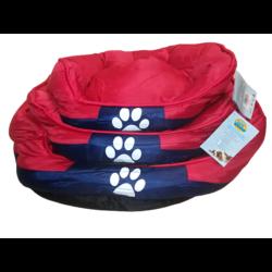 Tappancs kutyafekhely Piros színben 75x60x25 cm