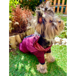 Lila Thermo kutyakabát M méretben