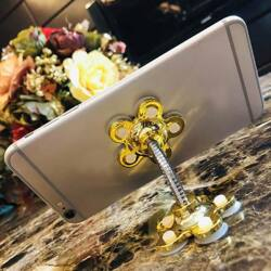 Telefontartó  tatadókoronggal, Magic Flower - arany színben