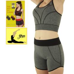 Jóga Fitness Wear karcsúsító rövid sportruházat - szürke