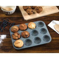 Royalty Line 12 részes márványbevonatos muffin sütőforma