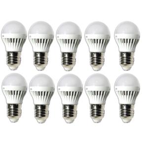 10 db Energiatakarékos 3W-os LED izzó kicsi foglalathoz