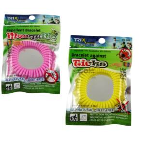 Trix Stop szilikon szúnyogriasztó karkötő+kullancsriasztó karkötő