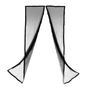 Mágneszáras szúnyogháló - fekete színben 2 x 1 m