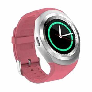 Y1 Smart watch android okosóra pink színben magyar nyelvű menüvel