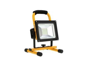 LED reflektor 20W (munkalámpa), hordozható, akkumlátoros