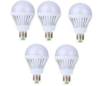 5W-os, LED izzó 5 db E27 foglalathoz