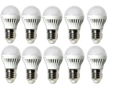 10 db Energiatakarékos 3W-os LED izzó E27-es foglalathoz