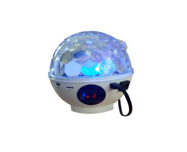 Távirányítós dekorációs Kristály Led gömb lámpa + MP3 lejátszó + USB