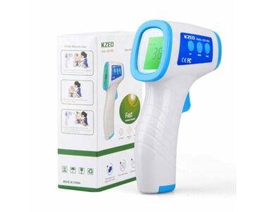 Digitális infravörös lázmérő - érintésmentes hőmérséklet mérés. Kzed-8801-Minőségi tanúsítvánnyal