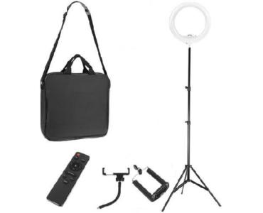Selfie lámpa állvánnyal és hordozható táskával 30W, 30/210cm - MS-184