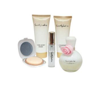 Sweetly Ladies 5 részes parfüm szett rózsaszín díszdobozban