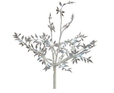 Led dekorációs fa ezüst levelekkel