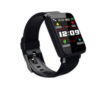 F1 pulzus és vérnyomásmérőmérő Fitness Sport Smart Watch - Fekete