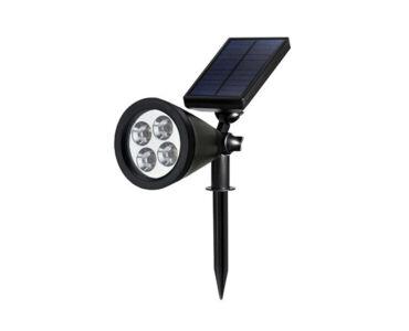 Napelemes leszúrható LED kerti lámpa-Kerek