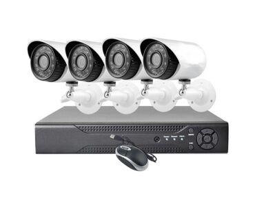 Online kamerás megfigyelő rendszer, 4 kamerával