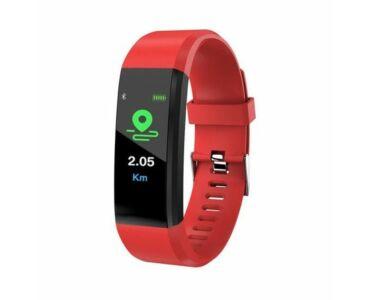 ID115 Smart Fitness okosóra pulzus és vérnyomásmérővel -piros