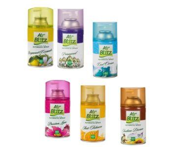6db illatosító utántöltő spray vegyes illat variációval,