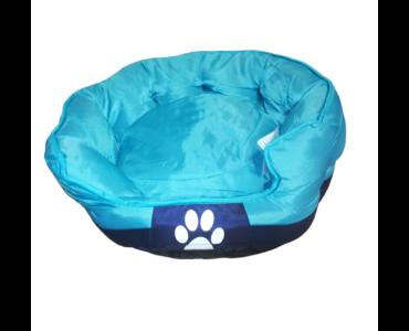Tappancs kutyafekhely Kék színben 75x60x25 cm