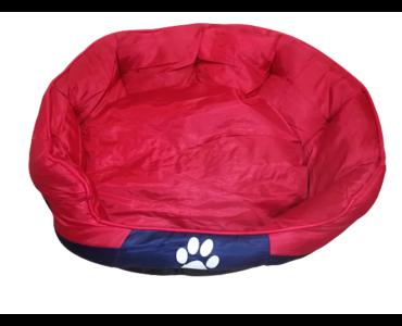 Tappancs kutyafekhely Piros színben 60x50x25 cm