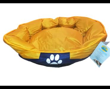 Tappancs kutyafekhely Sárga színben 75x60x25 cm