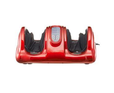 Többfunkciós elektromos lábmasszírozó távirányítóval SR FE-5900, piros