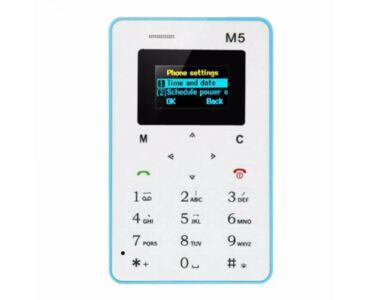 M5 Kártyafüggetlen Ultra Mini Mobiltelefon - Fehér-kék színben - 128 MB  rating