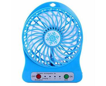 Akkumulátoros mini ventilátor - kék