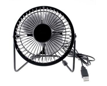 USB asztali mini ventilátor - fekete színben