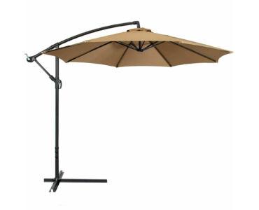 Függő napernyő 2,7 m átmérővel khaki színben