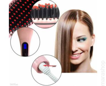 Hajegyenesítő/ hajregeneráló elektromos hajfésű-digitálisan szabályozható kijelzővel.