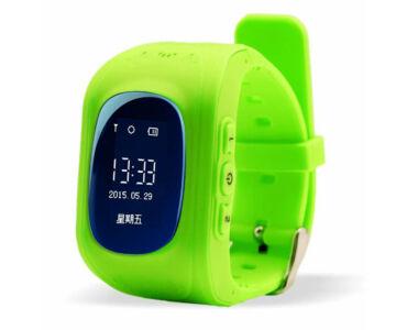 Q50 GPS nyomkövető okos óra gyerekeknek - Zöld színben