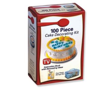 100 részes torta dekoráló/díszítő készlet