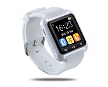 U8 Smart Watch bluetooth-os Univerzális kar óra - Magyar nyelvű menüvel - Fehér