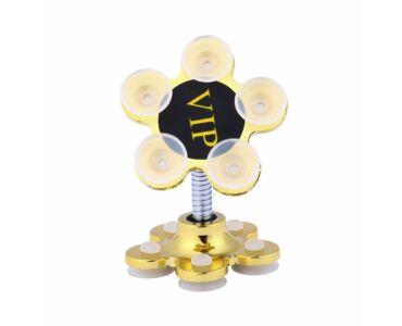 Telefontartó tapadókoronggal, Magic Flower - arany színben